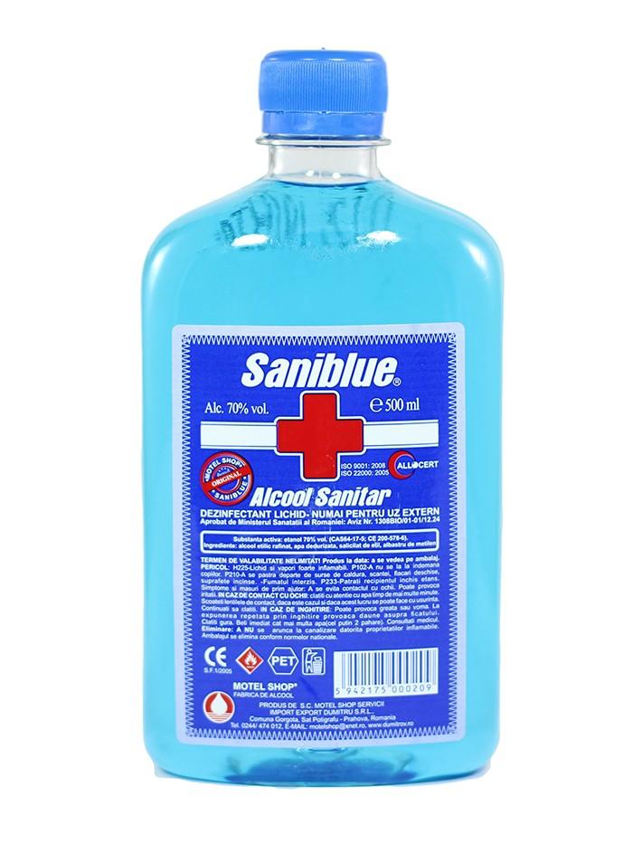 Saniblue Alcool Sanitar 500 ml 70% imagine produs