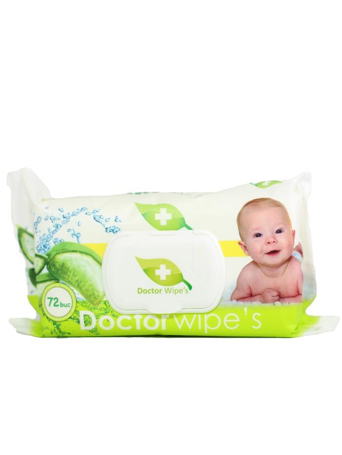 Dr. Wipe's Servetele umede baby cu capac 72 buc Aloe Vera imagine produs