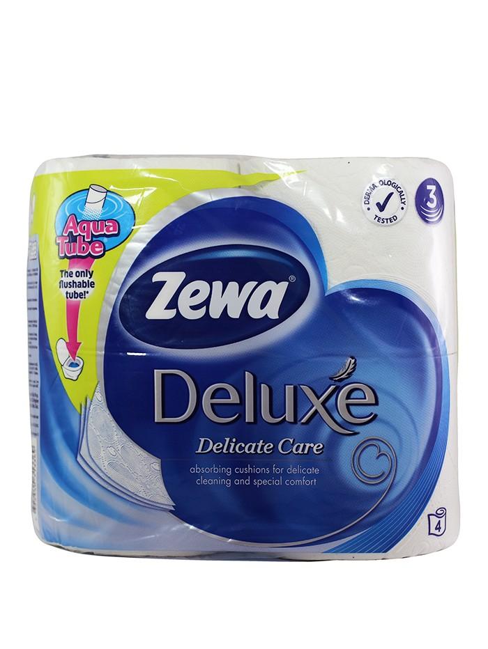 Zewa Hartie toaleta 3 straturi Deluxe 4 role Dalicate Care imagine produs