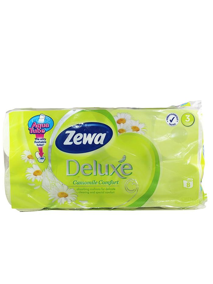 Zewa Hartie toaleta 3 straturi Deluxe 8 role Camomile imagine produs