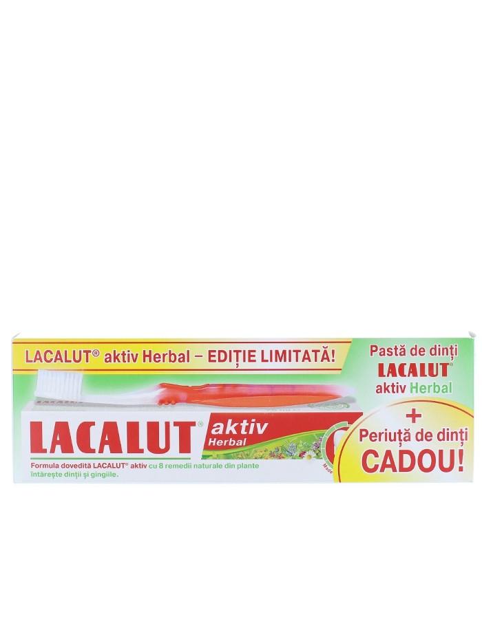Lacalut Pasta de dinti 75 ml Aktiv+Periuta de dinti imagine produs