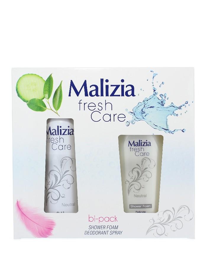 Malizia Caseta femei:Gel de dus+Spray deodorant 250+150 ml Fresh Care Neutral
