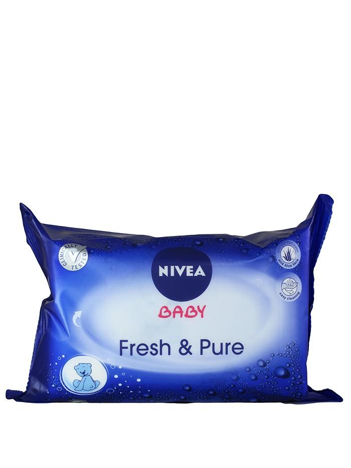 Nivea Servetele umede baby 63 buc Fresh&Pure imagine produs