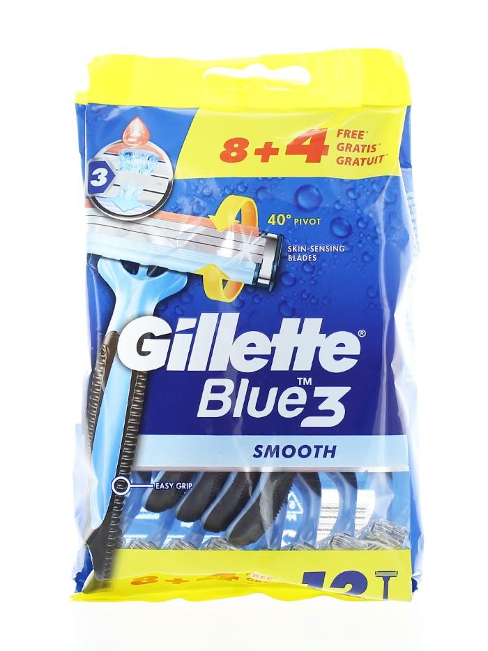 Gillette Aparat de ras Blue 3 8+4 buc Smooth imagine produs