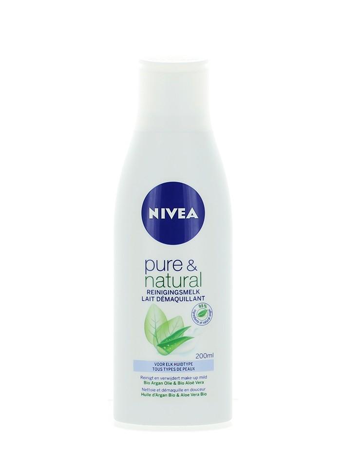 Nivea Demachiant Lapte 200 ml Pure&Natural imagine produs
