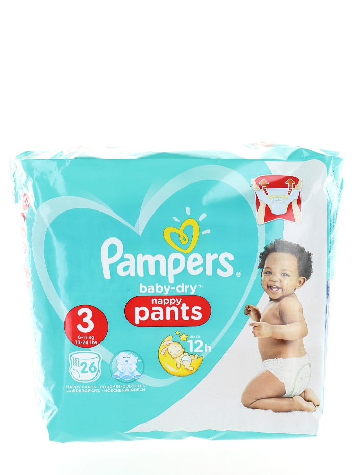Pampers Scutece chilotel nr. 3 Midi 6-11 kg 26 buc Baby-Dry imagine produs