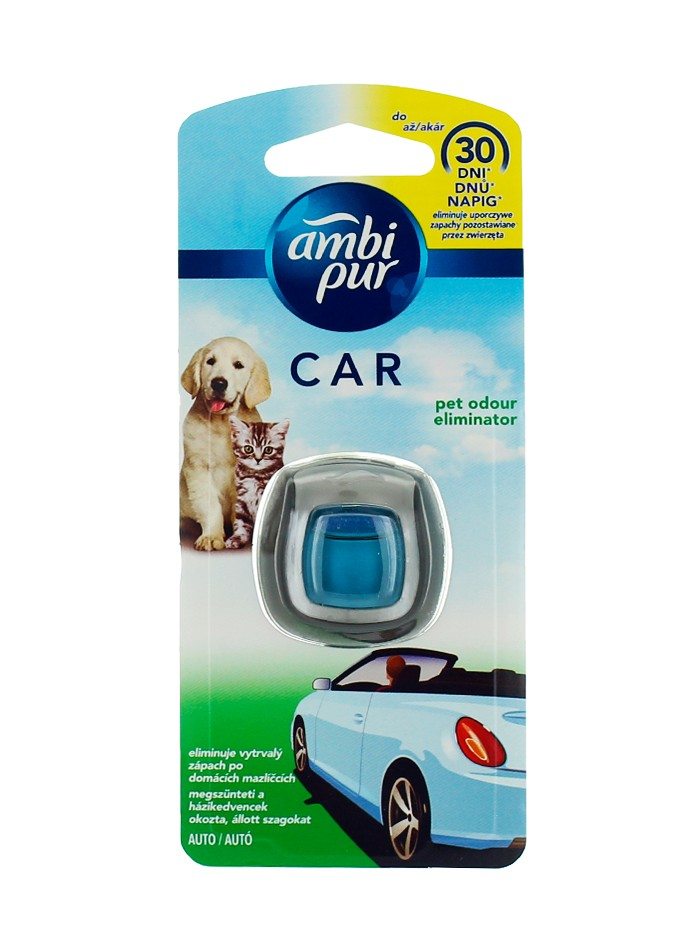 Ambi Pur Aparat Odorizant auto 2 ml Pet Odour Eliminator imagine produs