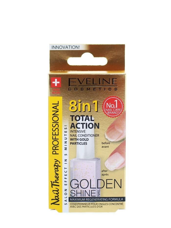 Eveline Tratament Unghii 12 ml Golden Shine 8 in1 imagine produs