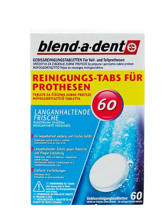 Blend-a-dent Pastile dezinfectat proteza dentara 60 buc imagine