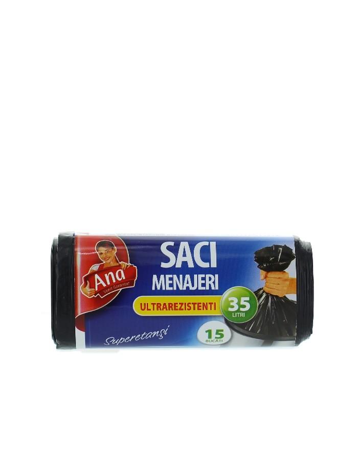 Anna Saci menajeri 35 L 15 buc Ultrarezistent imagine produs