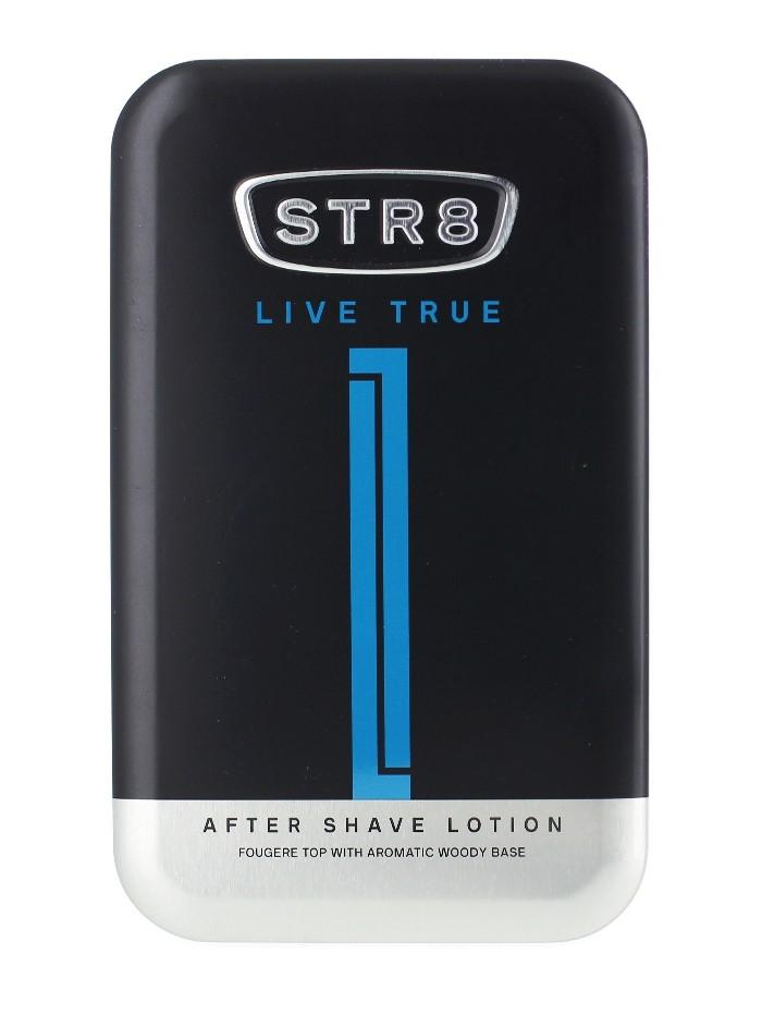 STR8 After Shave in cutie metalica 100 ml Live True imagine produs