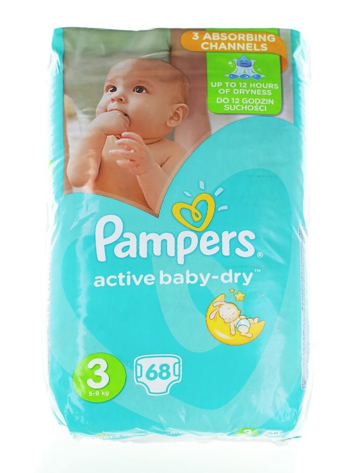 Pampers Scutece nr.3 5-9 kg 68 buc Active Baby-Dry imagine produs