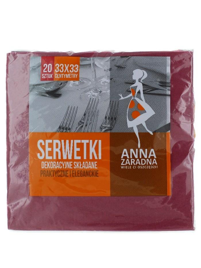 Anna Servetele de masa 3 straturi 20 buc 33x33 cm Bordo imagine produs