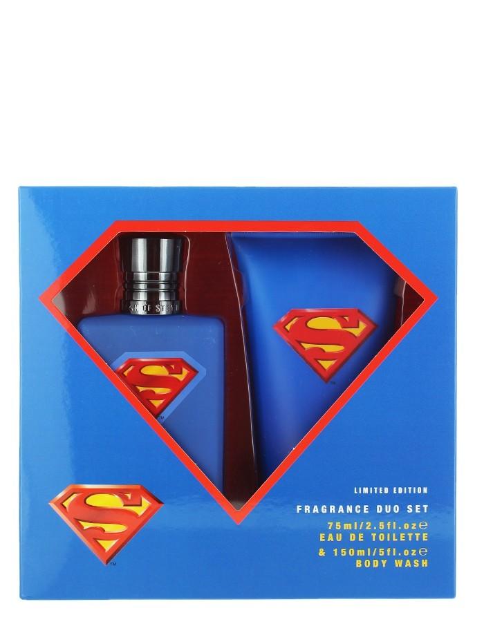 Superman Caseta:Apa de parfum+Gel de dus 75+150 ml