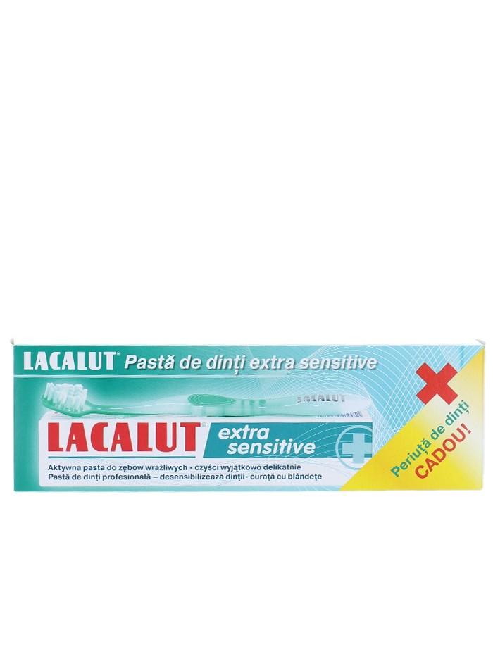Lacalut Pasta de dinti 75 ml Extra Sensitive+Periuta de dinti imagine produs