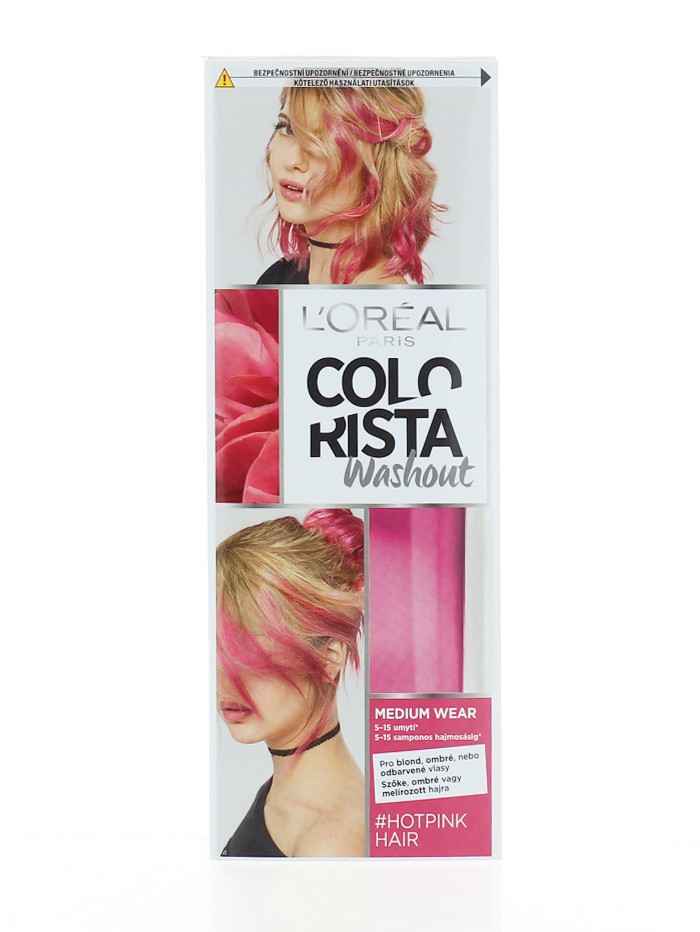 L'oreal Vopsea temporara pentru par 80 ml Colorista Washout Hot Pink imagine produs