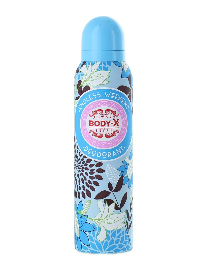 Body-X Spray Deodorant femei 150 ml Endless Weekend imagine produs