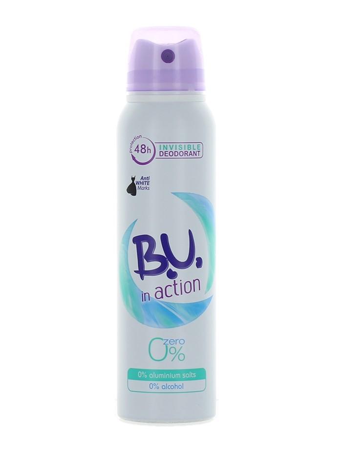 B.U. Spray Deodorant 150 ml Action Zero imagine produs