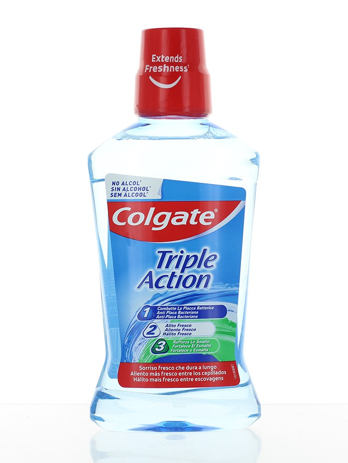 Colgate Apa de gura 500 ml Triple Action imagine produs