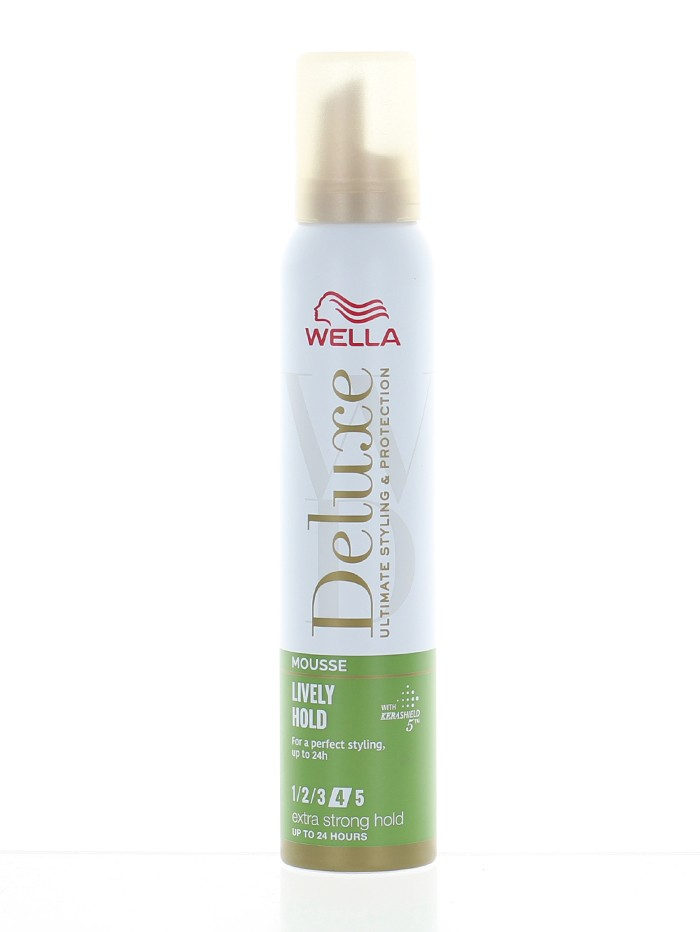 Wella Deluxe Spuma de par 200 ml Lively Hold Nr:4 Extra Strong Hold imagine produs