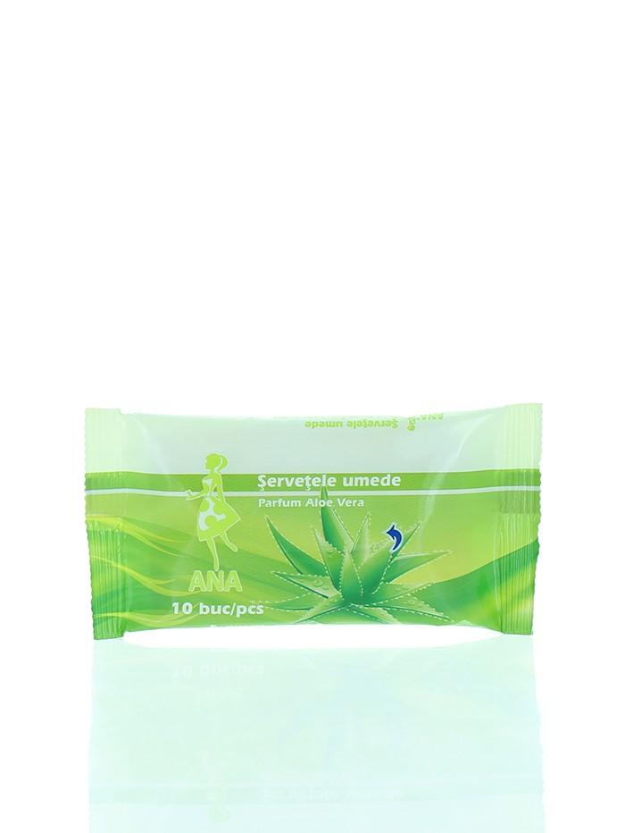 Anna Servetele umede 10 buc Aloe Vera imagine produs
