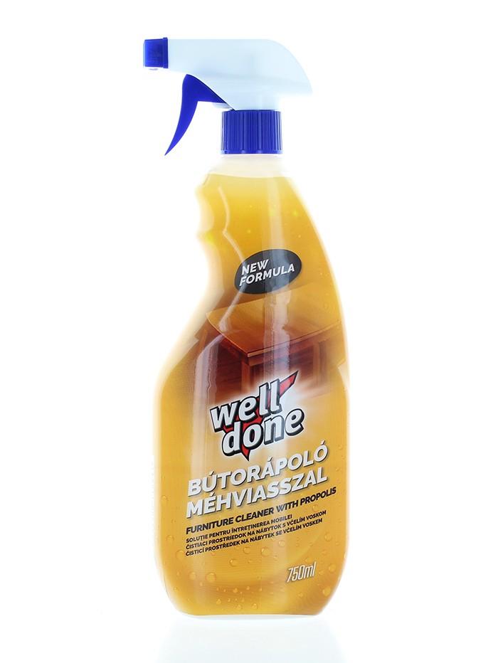 Well Done Solutie pentru curatarea si protejarea mobilei cu pompa 750 ml Propolis imagine produs