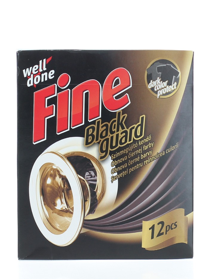 Well Done Fine Servetel pentru reinnoirea culorii hainelor negre 12 buc imagine produs