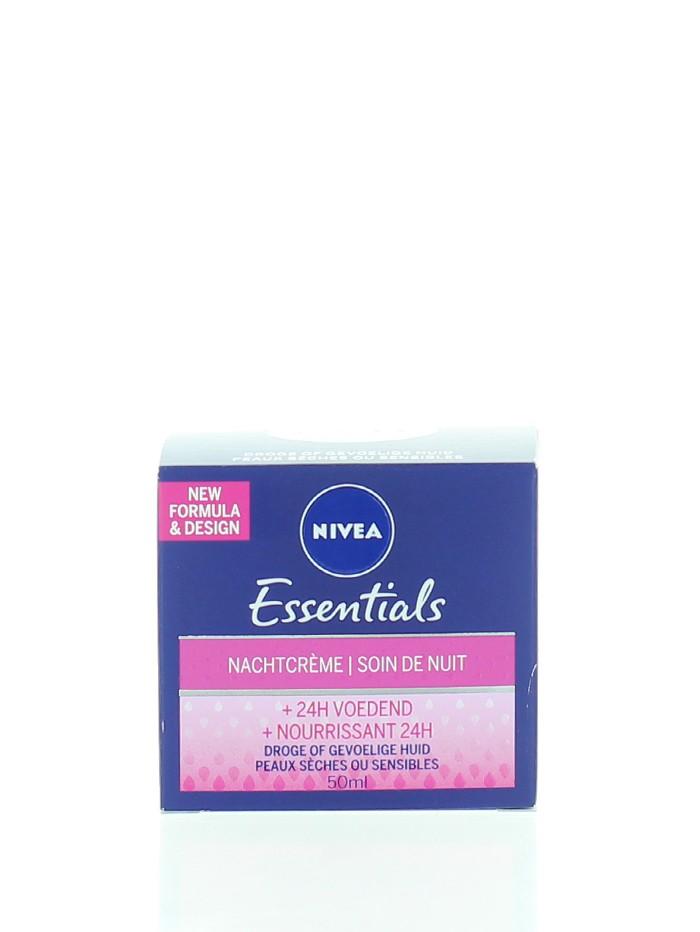 Nivea Crema de noapte 50 ml Essentials Nourrissant 24H imagine produs