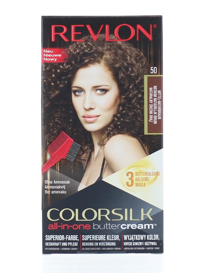 Revlon Vopsea de par Colorsilk Buttercream 50 Medium Natural Brown imagine produs