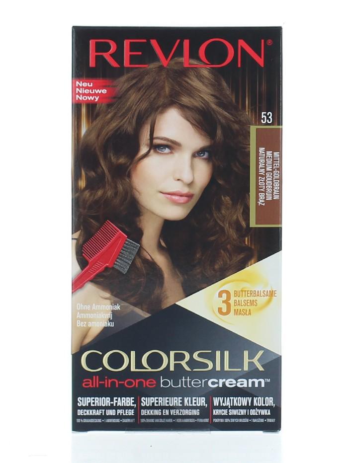 Revlon Vopsea de par Colorsilk Buttercream 53 Medium Gold Brown imagine produs