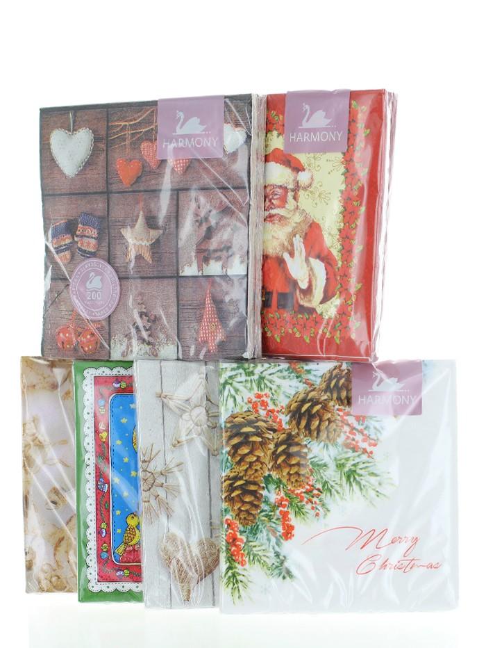 Harmony Servetele de masa 20 buc 33x33cm 3 straturi Cu Motive De Craciun diferite modele imagine produs