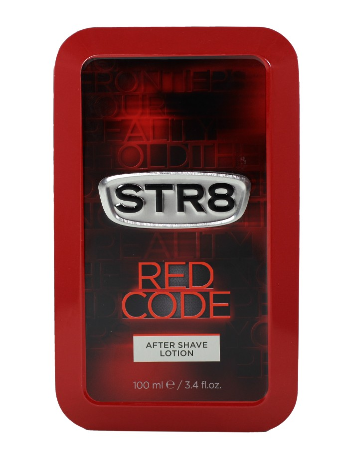 STR8 After Shave in cutie metalica 100 ml Red Code (Design Vechi) imagine produs