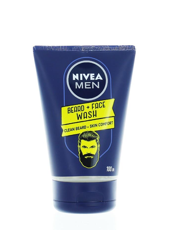 Nivea Men Gel de curatare fata barbati 100 ml Beard+Face (in tub) imagine produs