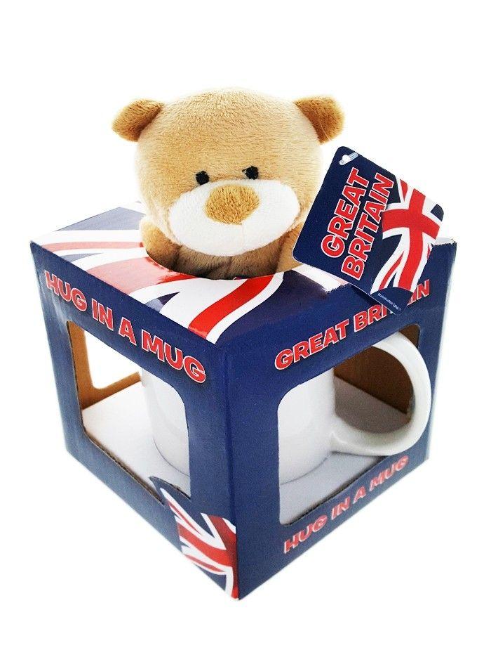 Cana Union Jack cu ursulet in cutie cadou 1 buc imagine produs