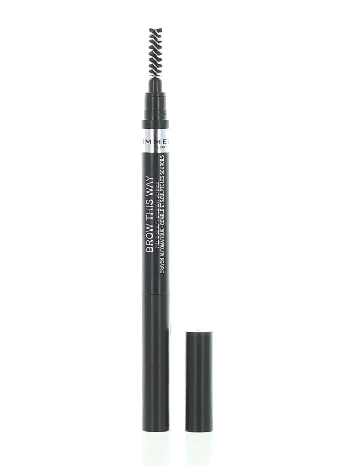 Rimmel Creion pentru sprancene 0.25 g 004 Soft Black imagine produs