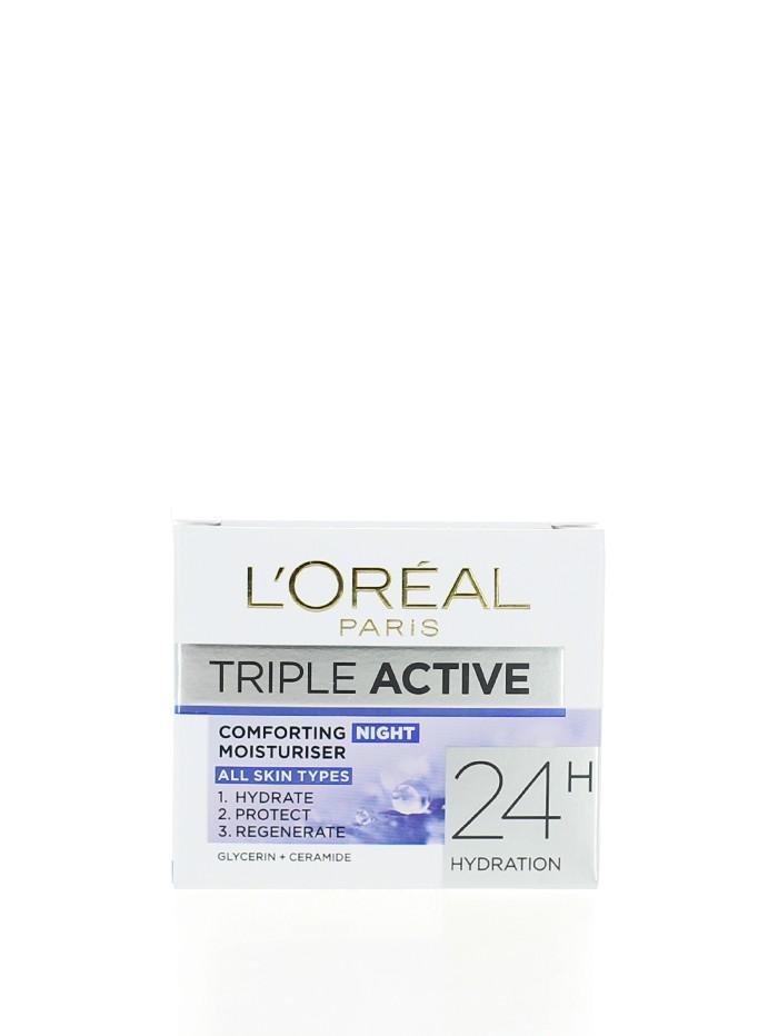 L'oreal Crema de noapte 50 ml Triple Active All Skin Types imagine produs