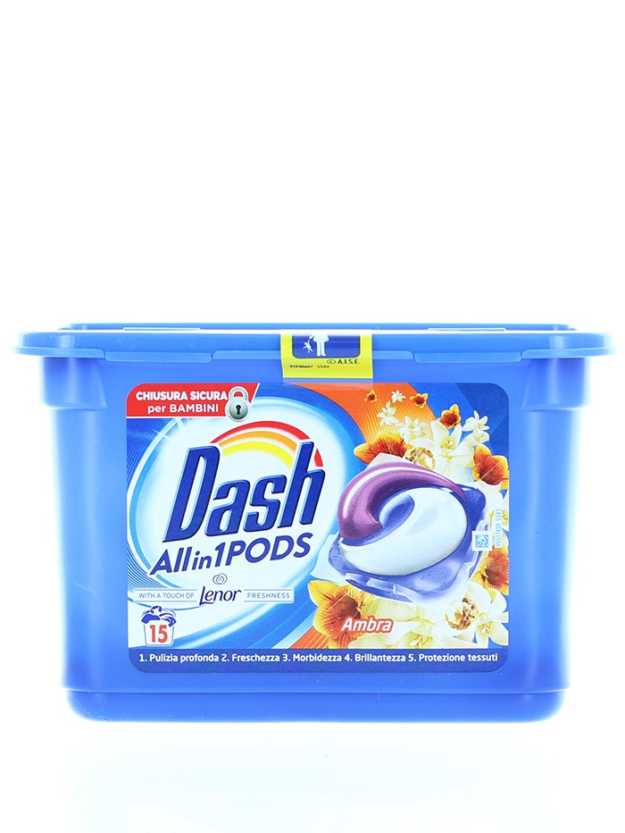 Dash Detergent Capsule 15 buc All in1 Ambra imagine produs