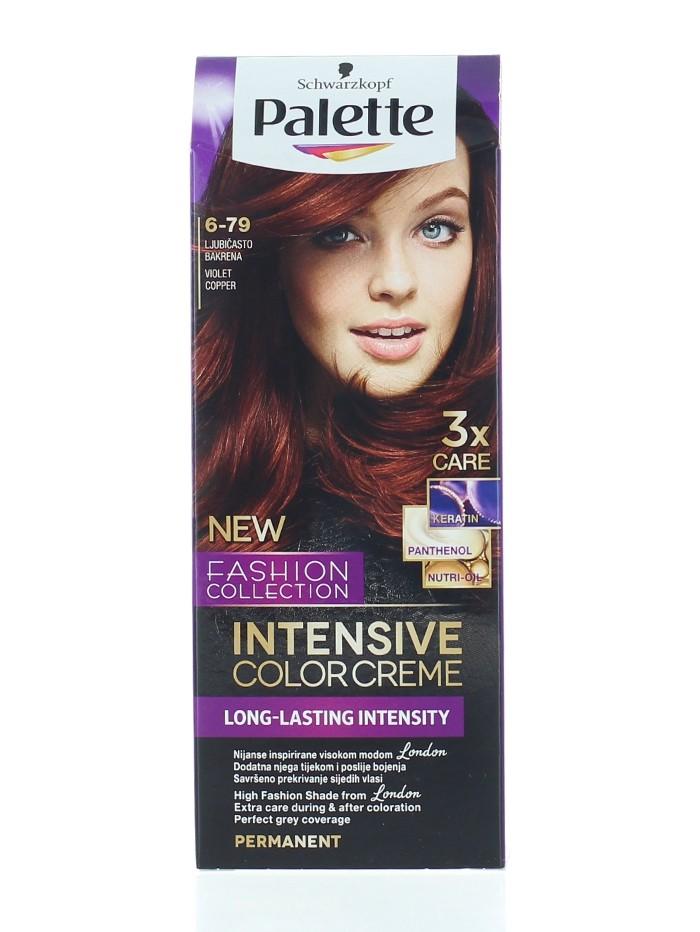 Palette Vopsea de par Intensive Color Creme 6-79 Violet Copper imagine produs