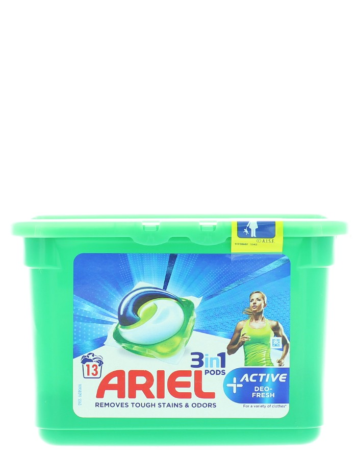 Ariel Detergent Capsule 3in1 13 buc Active Deo Fresh imagine produs