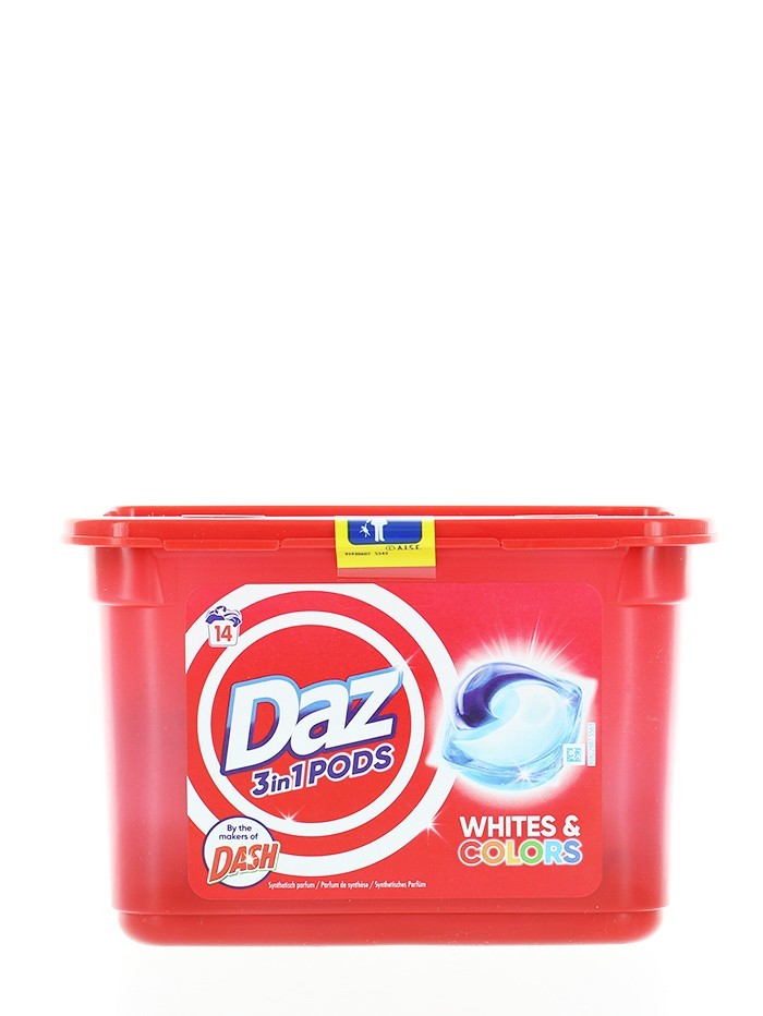 Daz(Dash) Detergent Capsule 14 buc 3in1 Whites&Colors imagine produs