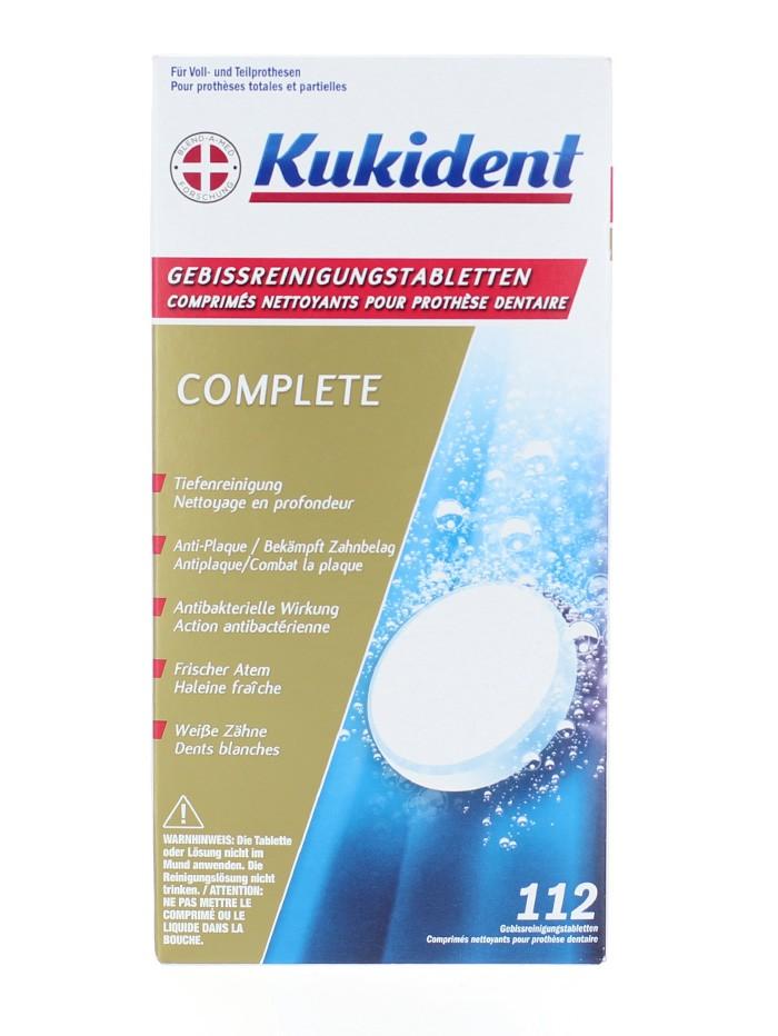 Kukident Pastile dezinfectat proteza dentara 112 buc Complete imagine produs
