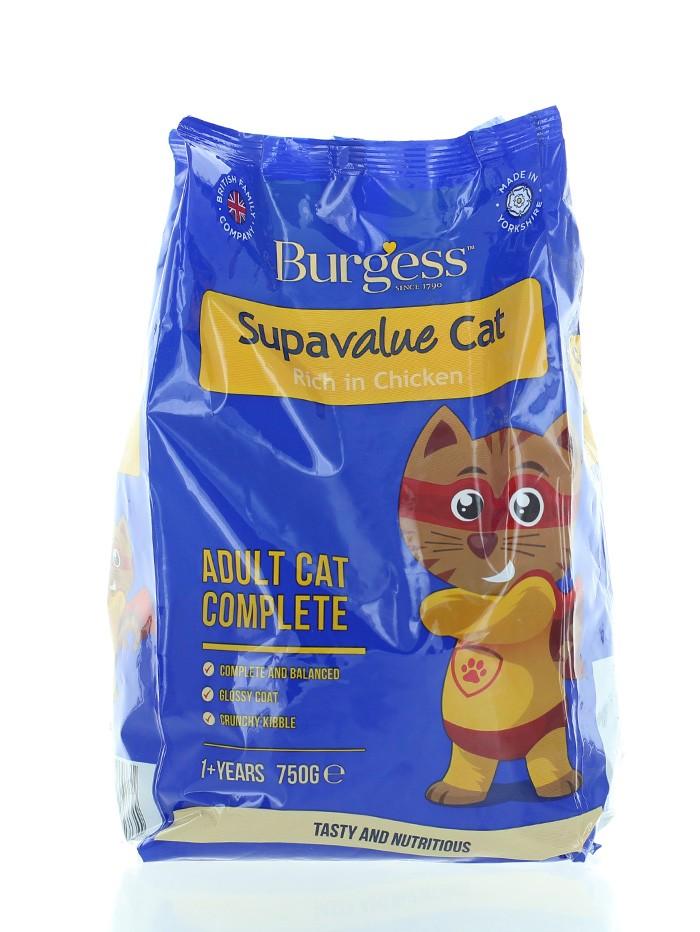 Burgess Hrana uscata pentru pisici 750 g Supavalue imagine produs