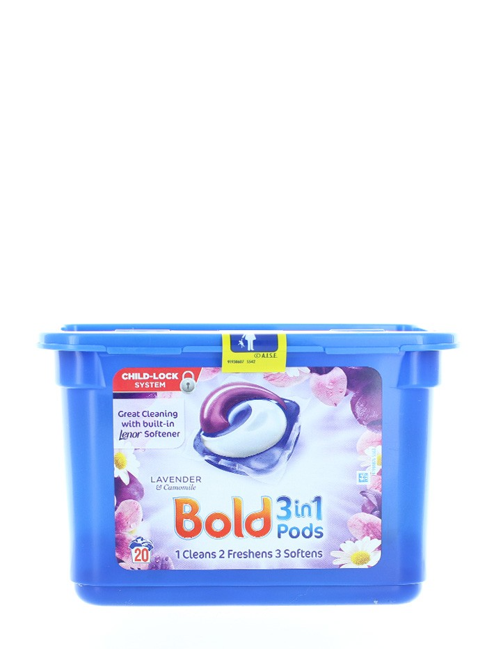 Bold Detergent Capsule 20 buc 3in1 Lavender&Camomile imagine produs
