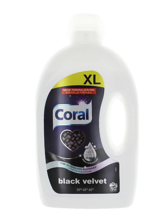 Coral Detergent lichid 2.5 L 50 spalari Black Velvet imagine produs
