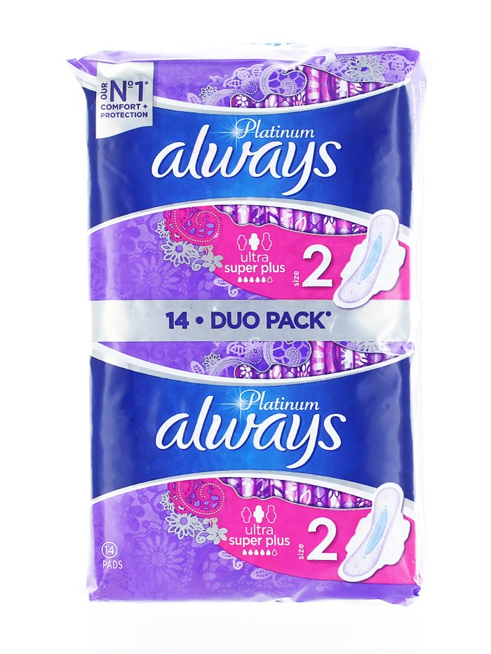 Always Absorbante Duo Pack 14 buc S2 Ultra Super Plus imagine produs