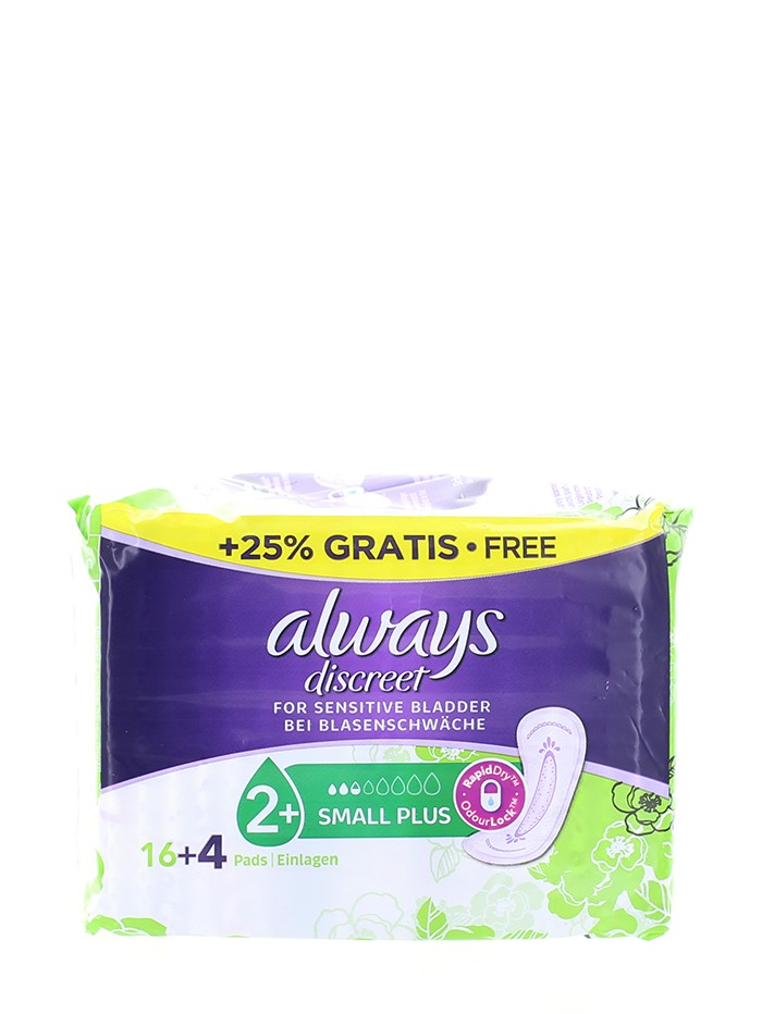 Always Discreet Absorbante pentru incontinenta20 buc Small Plus imagine produs