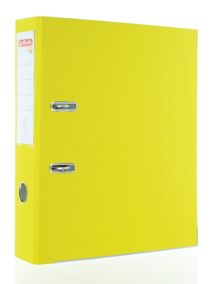 Herlitz Biblioraft One File A4 8 CM 1 buc Galben PVC imagine produs