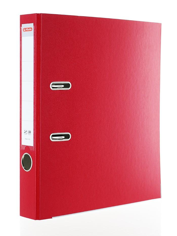 Herlitz Biblioraft A4 5CM 1 buc PP Rosu imagine produs