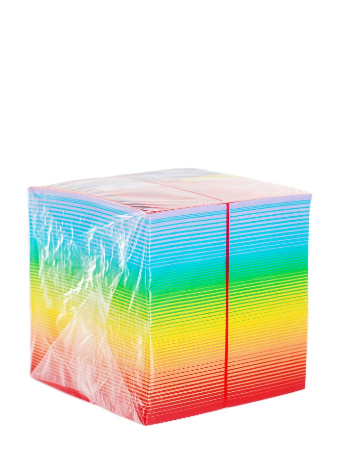 Herlitz Bloc Notite Color 9X9X9 CM 800 File Curcubeu imagine produs