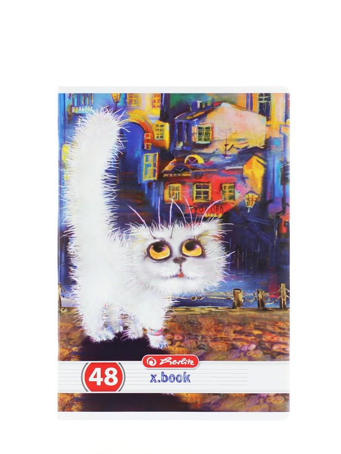Herlitz Caiet A5 48 File Cod:244 Crazy Cats-Dictando imagine produs